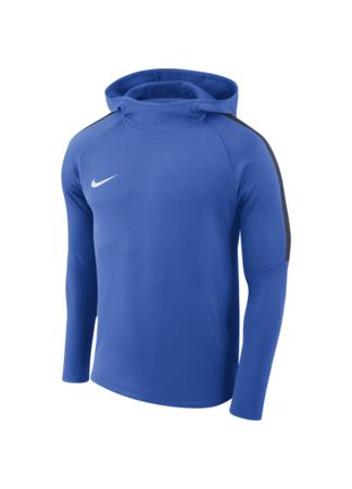 Nike Boys' Nike Dry Academy18 Football Hoodie (ROYAL BLUE/OBSIDIAN/OBSIDIAN/WHITE)
